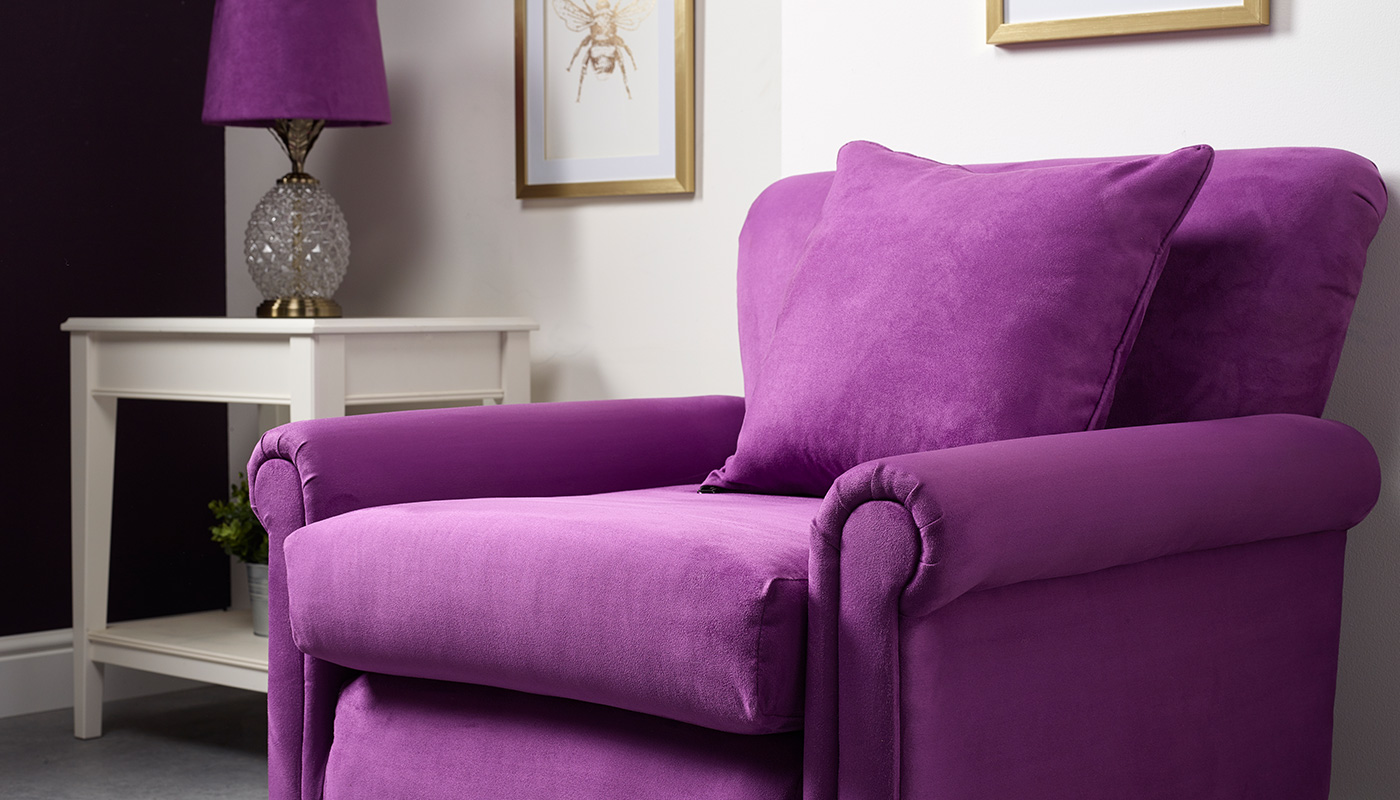 Faux Suede Chair Hyacinth Violet
