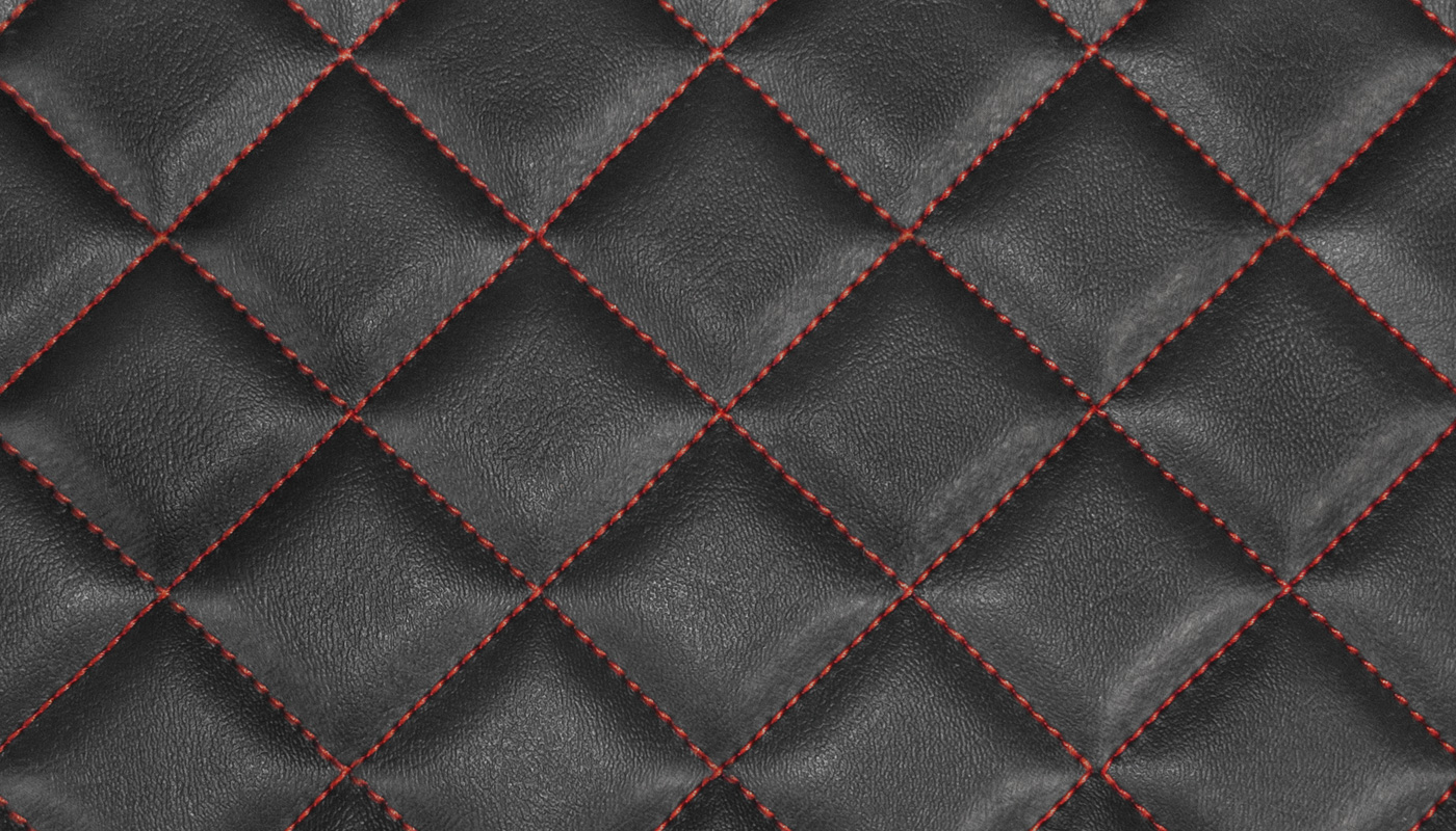 Box Quilted Vinyl Fabric Red
