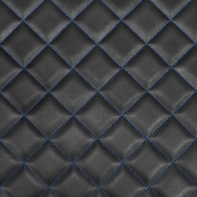 Box Quilted Vinyl Fabric Blue