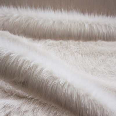 Faux Fur Fabric, Cream Longhaired