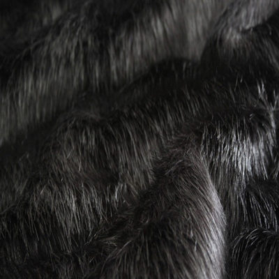 Faux Fur Fabric, Black Longhaired