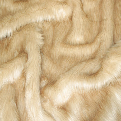 Faux Fur Fabric, Sand Longhaired