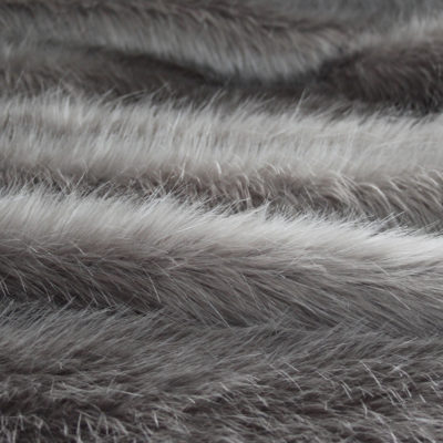Faux Fur Fabric, Silver Longhaired