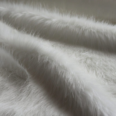 Faux Fur Fabric, White Longhaired